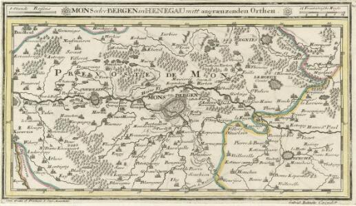 Mons oder Bergen in Henegau mitt angraenzenden Orthen