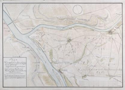 Plan Von der Gegend, wo der Rhein und Main sich vereinigen in specie von Rüsselsheim bis Ginsheim