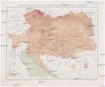 Bevölkerungsdichtigkeit der Österreichisch-Ungarischen Monarchie