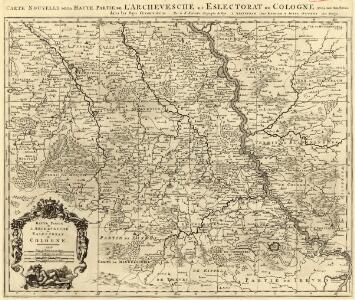 Carte Nouvelle de la Haute Partie de l'Archevesché et Eslectorat de Cologne Avec ses Enclaves dans les Pays Circomvoisins.