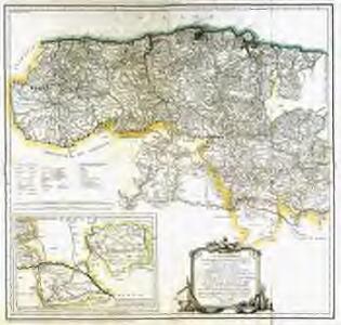 Mapa que comprehende el partido del Baston de Laredo
