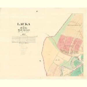 Lauka - m1623-1-003 - Kaiserpflichtexemplar der Landkarten des stabilen Katasters