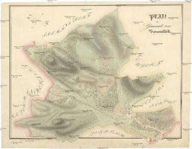 Plan der Gemeinde von Neuwaldek