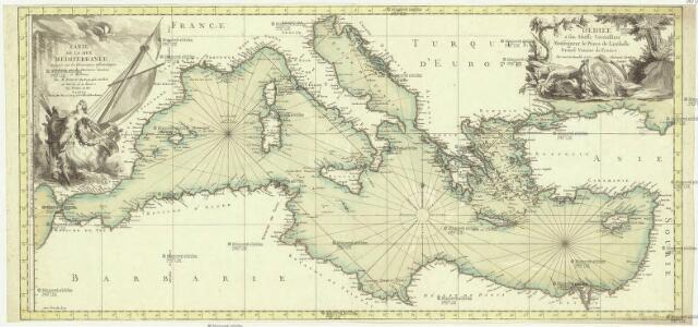 Carte de la mer Mediterranée