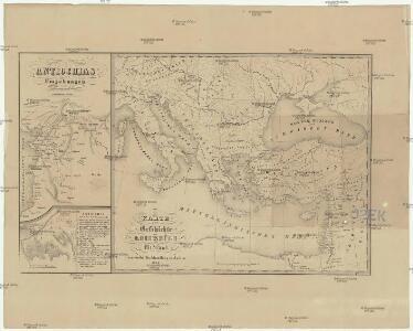 Karte zur Geschichte der Kreuzzüge