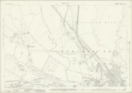 Middlesex XIX.14 (includes: Egham; Staines; Wyrardisbury) - 25 Inch Map