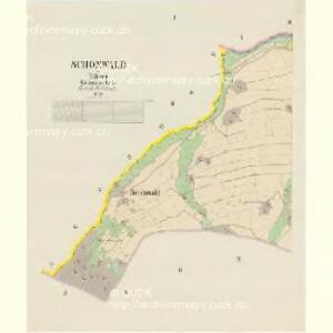 Schönwald - c5898-2-001 - Kaiserpflichtexemplar der Landkarten des stabilen Katasters