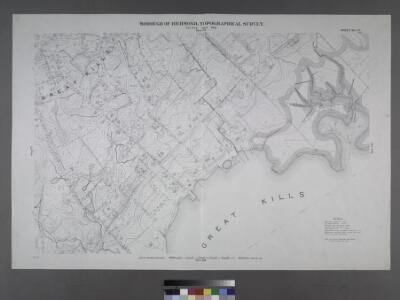 Sheet No. 78. [Includes Great Kills, Amboy Road, Midland Road, Great Kills Road, Highland Avenue, Southside Boulevard, Nelson Avenue, Duck Creek.]; Borough of Richmond, Topographical Survey.