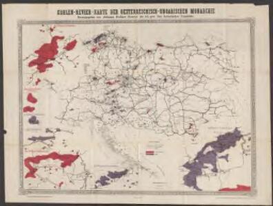 Kohlen-Revier-Karte der österreichisch-ungarischen Monarchie