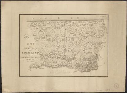 Kaart der afwatering van Soersaap in de gemeenten Bloemendaal en Velsen, September 1823.