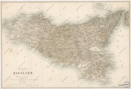 Karte von Sicilien