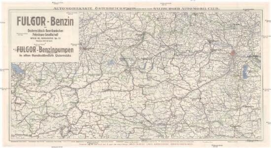 Automobilkarte Österreichs