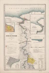 Kaart van de rivier de Suriname