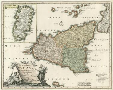 Insvlae sive Regni Siciliae, ante omnes Mediterranei maris Insulas clarissimae Tabula diligentissime novissimeque