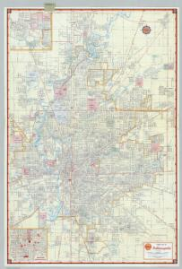Shell Street Map of Indianapolis.