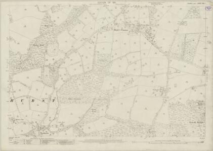 Sussex XXV.1 (includes: Lower Beeding; Nuthurst) - 25 Inch Map