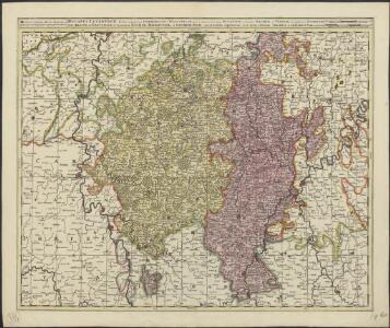 Ducatus Luceburgii, divisus in Regionem Germanicam et Wallonicam, porro etiam in Ducatum Bulonium, Comitatus Salmiae, et Viandae, Praeposituras Luceburgii, Arluni, et Bastonaci, et Toparchias Eschiae, Miremundae, et Orchemundae