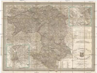 Post und Strassen Karte des Herzogthums Steyermark