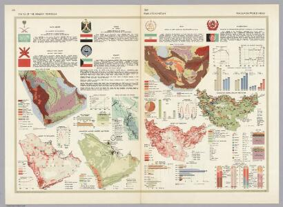 States of the Arabian Peninsula.  Iran, Afghanistan.  Pergamon World Atlas.