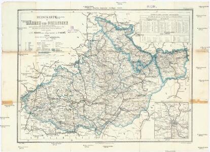 Reisekarte von Mähren und Schlesien mit der Gerichtseintheilung