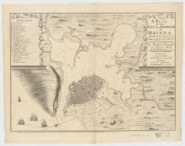 A plan of the city and harbour of Havana : situated on the island of Cuba in 23d: 10m. nth. latitude & in 292d: 15m longitude from the meridian of Teneriff