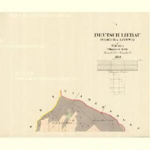 Deutsch Liebau (Německa Liwowa) - m0793-2-001 - Kaiserpflichtexemplar der Landkarten des stabilen Katasters