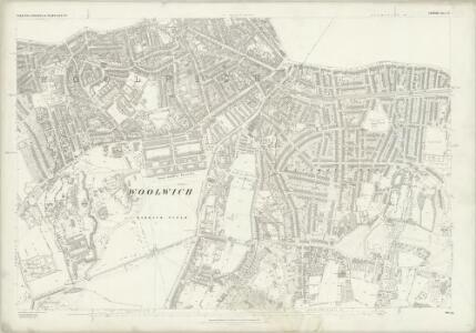 London (First Editions c1850s) LX (includes: Borough Of Woolwich) - 25 Inch Map