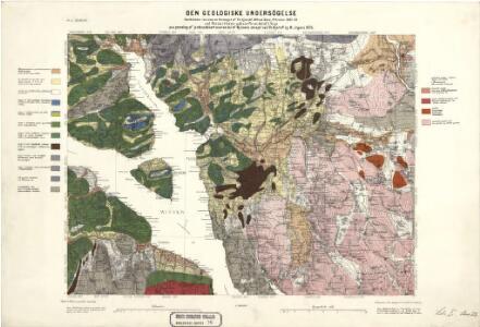 Geologiske kart 26: Den geologiske Undersøgelse, Hamar