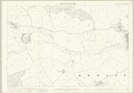 Suffolk LXXIII.12 (includes: Groton; Kersey; Lindsey) - 25 Inch Map