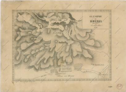 Olympos bei Brussa gezeichnet von Bernhard Blaue