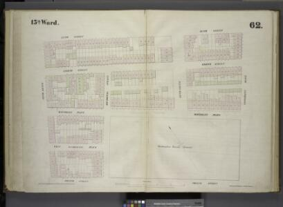 [Plate 62: Map bounded by West 9th Street, East 9th Street, University Place, East 4th Street, West 4th Street, Sixth Avenue.]