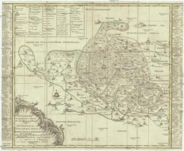 Accurate geographische Charte der Graeftlichen Stolbergl. AEmter, als Hohnstein, Stolberg, Hayn, Berenroda, Ebersburg, Wolfsberg, Ufftrungen, Rosla, und Questenb. nebst unterschiedliche angräntzenden