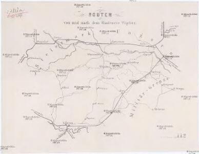 Routen von und nach dem Badeorte Töplitz