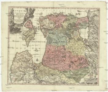 Livoniae et Curlandiae ducatus cum insulis adjacentib. mappa geographica