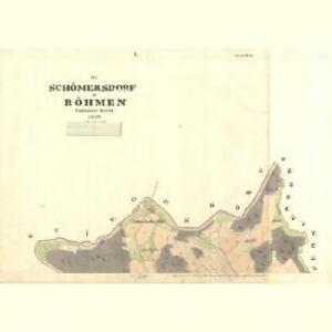 Schömmersdorf - c8894-1-001 - Kaiserpflichtexemplar der Landkarten des stabilen Katasters