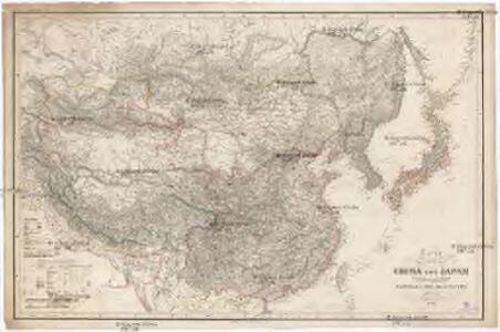 Karte VON CHINA UND JAPAN