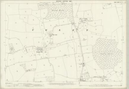 Essex (1st Ed/Rev 1862-96) XIII.16 (includes: Quendon and Rickling; Stanstead Mountfitchet; Ugley) - 25 Inch Map