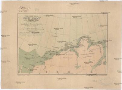 Předběžná mapa cesty Framu podél severního pobřeží starého světa