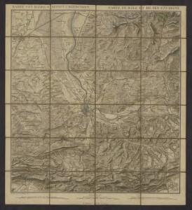 Karte von Basel u. seinen Umgebungen = Carte de Bâle et de ses environs