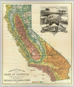 Geographical climatic map California.