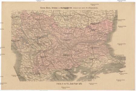 Černá Hora, Srbsko a Bulharsko dle ustanovení míru Sv.-Štěpánského