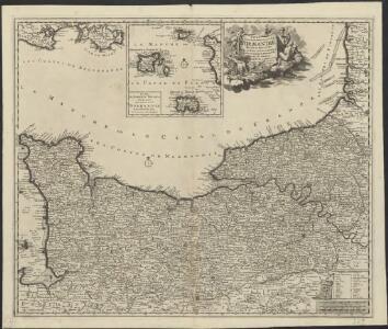 Duché et gouvernement general de Normandie, divise en haut et bas en divers pays et balliages avec le gouvernement general de Havre de Grace