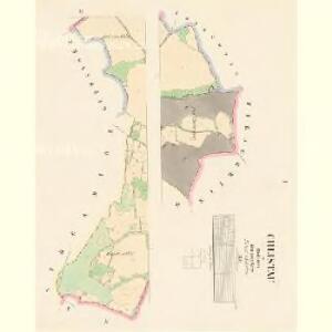 Chlistau - c2489-1-001 - Kaiserpflichtexemplar der Landkarten des stabilen Katasters