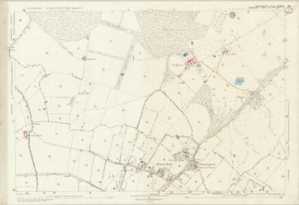 Huntingdonshire XX.11 & 10 (includes: Dean and Shelton; Kimbolton; Melchbourne and Yelden; Pertenhall; Swineshead; Tilbrook) - 25 Inch Map
