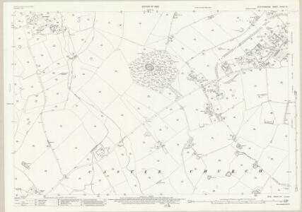 Staffordshire XXXVII.14 (includes: Bradley; Castle Church; Seighford; Stafford) - 25 Inch Map