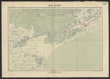 Carte de l'Indochine au 1:100 000. Flle N 242, Bac-Lieu (carte provisoire)