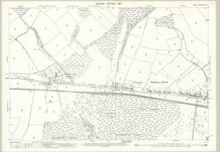 Essex (1st Ed/Rev 1862-96) XXIII.13 (includes: Birchanger; Hatfield Broad Oak; Stanstead Mountfitchet; Takeley) - 25 Inch Map
