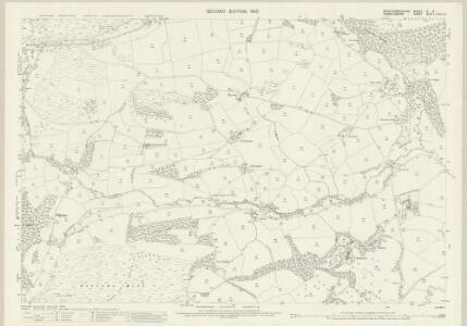 Montgomeryshire X.5 (includes: Llanfechain; Llanfyllin; Llanrhaeadr Ym Mochnant) - 25 Inch Map