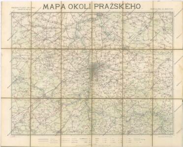 Mapa okolí pražského se zvláštním zřetelem pro turisty a cyklisty