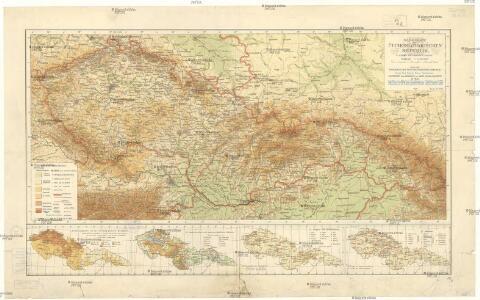 Handkarte der Čechoslovakischen Republik